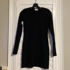 BNWOT Wilfred Free Black Ribbed Dress XXS